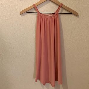 Free Kisses- pink, silky, sleeveless